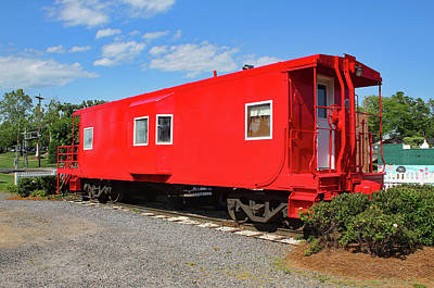 Photograph - Fort Mill Caboose by Joseph C Hinson Photography