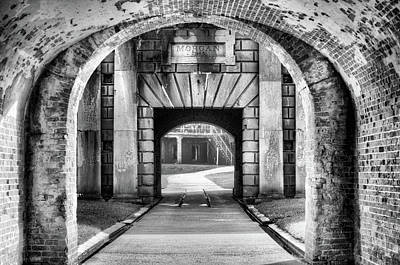 Mobile Bay Photograph - Fort Morgan Black And White by JC Findley
