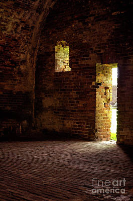 Photograph - Fort Morgan - Inside The Casemate by Kathleen K Parker