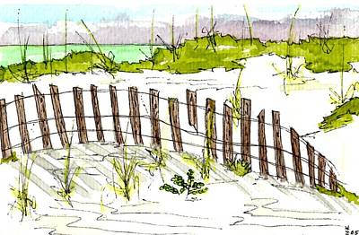 Sand Fences Mixed Media - Fort Morgan Afternoon by Greg Bick