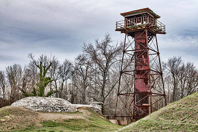 Photograph - Fort Mott Lookout Tower by Kristia Adams