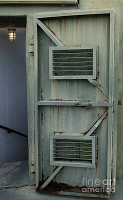 Photograph - Fort Moultrie Green Metal Door Entrance by Dale Powell