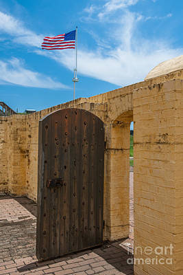 Photograph - Fort Moultrie Wooden Door Entrance by Dale Powell