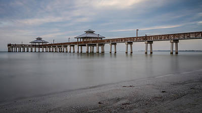 Photograph - Fort Myers Beach Fishing Pier by Ron Pate