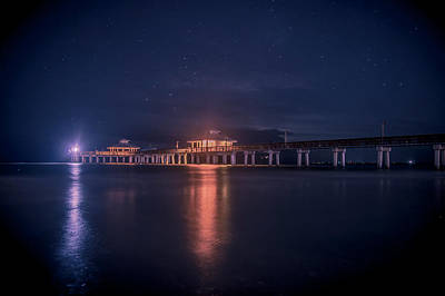 Fish Photograph - Fort Myers Beach Pier by Michael Frizzell