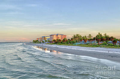 Fort Myers Beach Pier View 2011 Art Print by Timothy Lowry