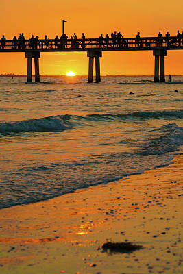 Photograph - Fort Myers Beach Sunset by Mark Robert Rogers