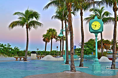 Fort Myers Beach Times Square 1 Art Print by Timothy Lowry