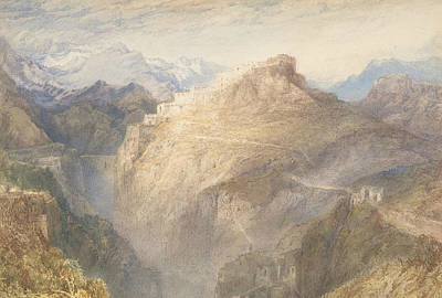 Painting - Fort Of L'essillon, Val De La Maurienne, France by Joseph Mallord William Turner