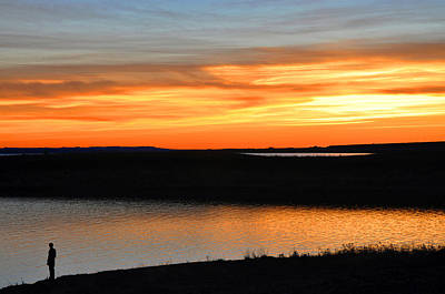 Photograph - Fort Peck Lake Montana Sunset by Braden Moran