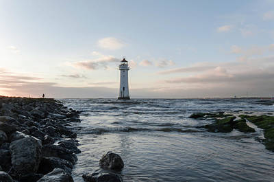 Photograph - Fort Perch Lighthouse In The Tide by Spikey Mouse Photography