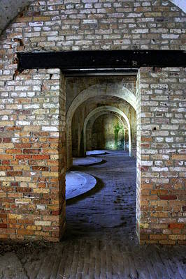 Photograph - Fort Pickens Interior by Laurie Perry