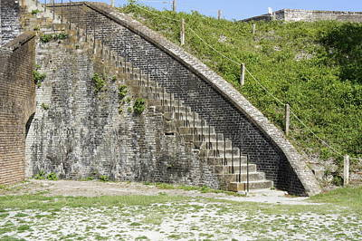 Photograph - Fort Pickens Stairs by Laurie Perry