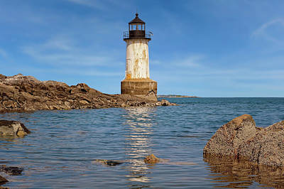 Fort Pickering Lighthouse  -  Fortpickeringlight1871salem185107 Art Print by Frank J Benz