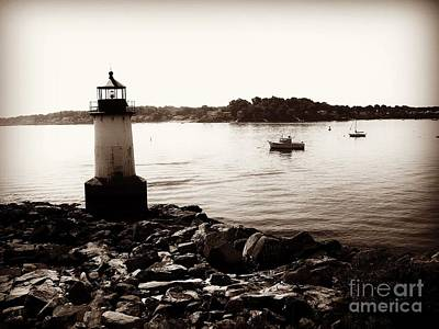 Photograph - Fort Pickering Lighthouse, Winter Island, Salem, Massachusetts by Lita Kelley