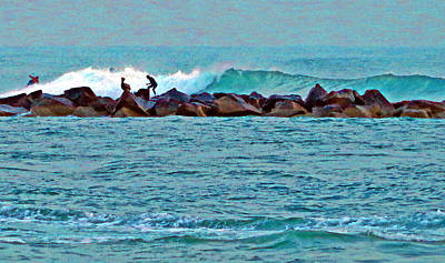 Fort Pierce Digital Art - Fort Pierce Surfing by Bruce Roker