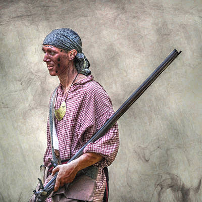 Fort Pitt Scout Portrait Art Print by Randy Steele