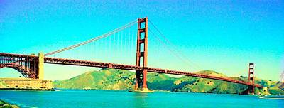 Photograph - Fort Point Golden Gate Bridge by John Schneider