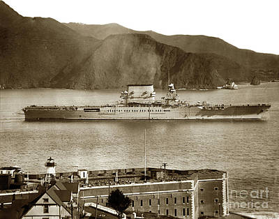 Photograph -  Fort Point Golden Gatesan Francisco Bay March 31 1928 by California Views Mr Pat Hathaway Archives