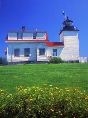 Fort Point Lighthouse Stockton Springs Print by John Burk