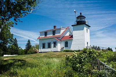 Fort Point Lighthouse  Stockton Springs Me 2  Art Print