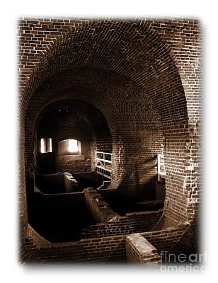 Photograph - Fort Pulaski Sepia by Jacqueline M Lewis