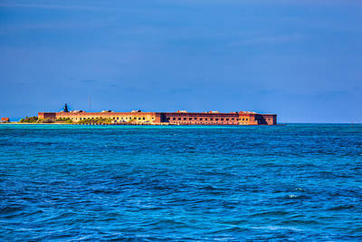 Tropical Photograph - Fort Jefferson by John M Bailey