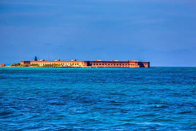 Tortuga Beach Photograph - Fort Jefferson by John M Bailey