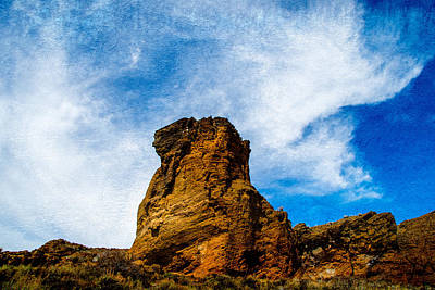 Oregon State Mixed Media - Fort Rock Tower by Stan Townsend