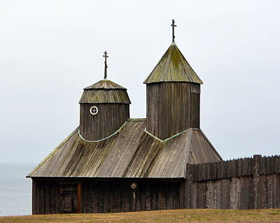 Photograph - Fort Ross Chapel by Carla Parris