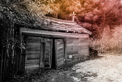 Photograph - Old Barn Duo Tones On Black And White by Blake Webster