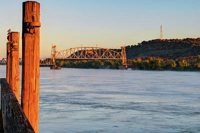 Photograph - Fort Smith Arkansas River Bridge by Gregory Ballos