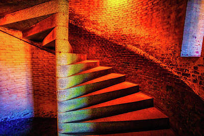 Staircase Photograph - Fort Staircase by Garry Gay