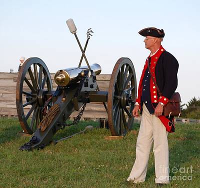 Fort Stanwix Cannon Ready Art Print by Diane E Berry