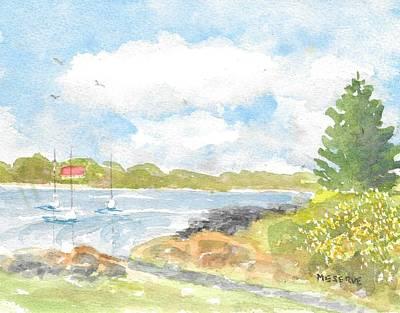 Fort Stark Painting - Fort Stark, New Castle New Hampshire View  by Roseann Meserve