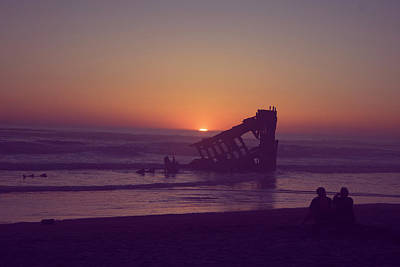 Peter Iredale Photograph - Fort Stevens Sunset by Amanda Case