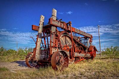 Photograph - Fort Stockton Contraption by Linda Unger