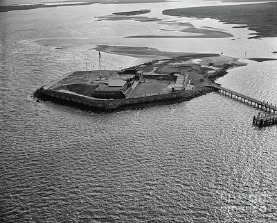 Photograph - Fort Sumter Aerial  by Dale Powell