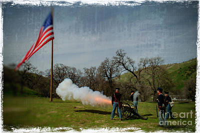 Photograph - Fort Tejon Canon Salute by Scott Parker