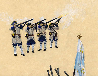 Fort Toulouse Soldiers Firing Art Print by Beth Parrish