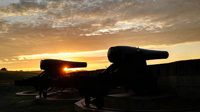 Photograph - Fort Trumbull Cannons - New London Ct by Kirkodd Photography Of New England