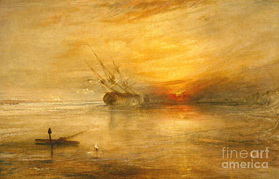 Sundown Painting - Fort Vimieux by Joseph Mallord William Turner