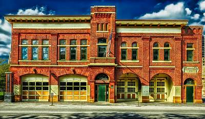 Entrance Door Photograph - Fort Wayne Firefighters Museum by Mountain Dreams