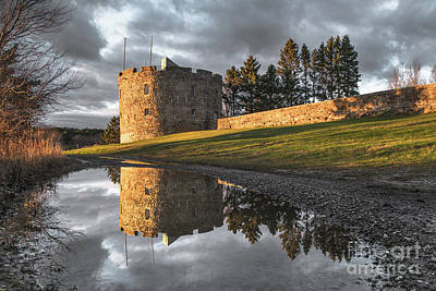 Fort William Henry Reflection Art Print by Benjamin Williamson