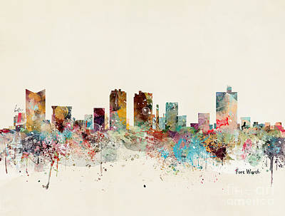 Painting - Fort Worth by Bleu Bri