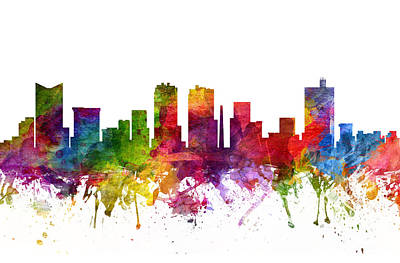 Fort Worth Cityscape 06 Art Print