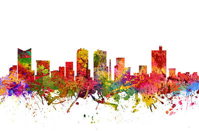 Fort Worth Cityscape 08 Art Print by Aged Pixel