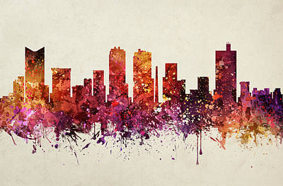 Fort Worth Cityscape 09 Art Print