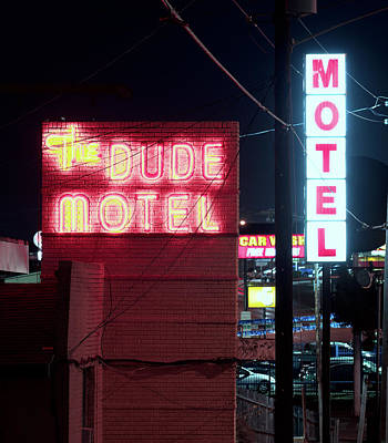 Photograph - Fort Worth Dude Motel 012918 by Rospotte Photography