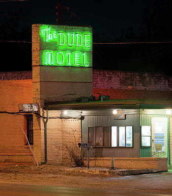 Photograph - Fort Worth Dude Motel V2 012918 by Rospotte Photography